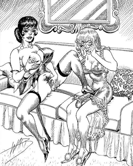 Femdom free vintage drawings